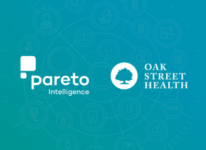 Pareto Intelligence and Oak Street Health logos announcing revenue integrity partnership