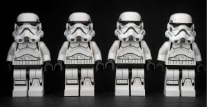Picture of Storm Trooper legos representing Pareto's proprietary clone analysis to profile new health plan enrollment